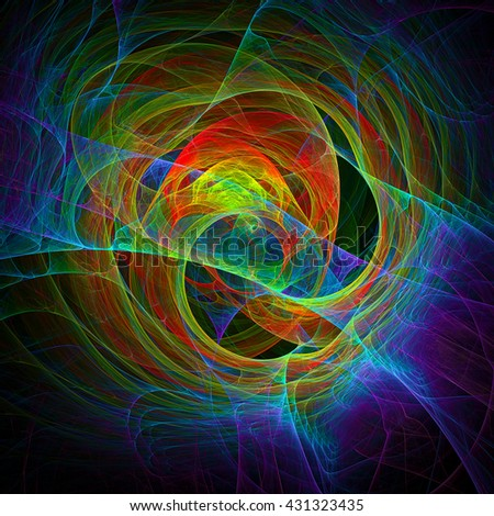 Time Travel, abstract illustration - stock photo