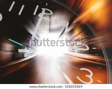 Time travelling - stock photo