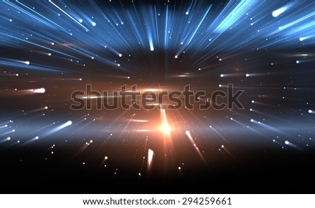Time warp, traveling in space - stock photo