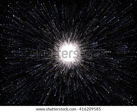 Time warp, traveling in space. - stock photo