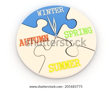 time WINTER - stock photo