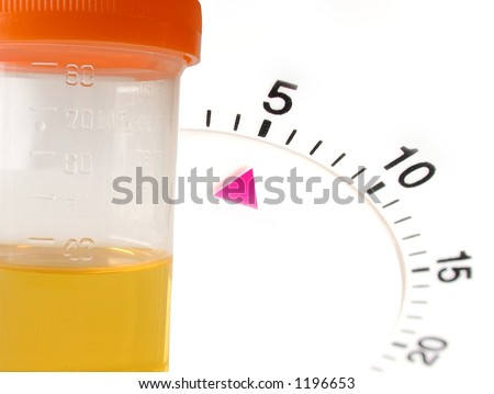 timed urine sample test - stock photo