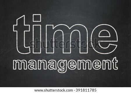 Timeline concept: Time Management on chalkboard background - stock photo