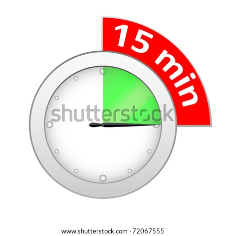 Timer 15 minutes - stock photo