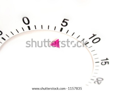 timer set with five minutes to go - stock photo