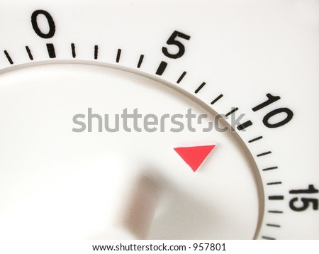 timer set with 10 minutes to go - stock photo