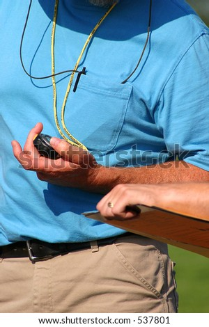 timer with stopwatch - stock photo