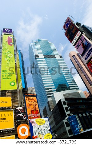 Times square in summer day - stock photo