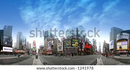 Times square - manhattan - new york - stock photo