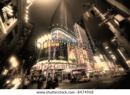 Times square - manhattan - new york - stock photo