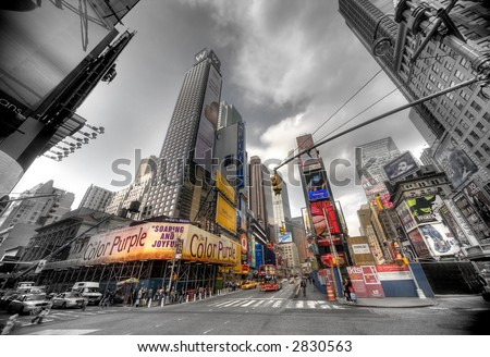 Times Square, Manhattan,NY - sepia - old style - stock photo