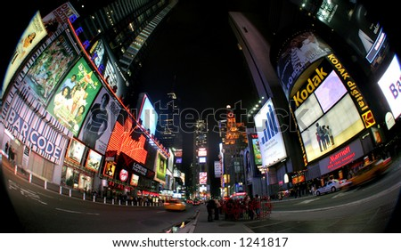 Times square - new york - manhattan - stock photo