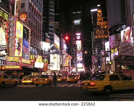 Times Square of New York by night