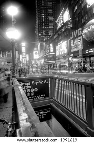 Times Square -subway - stock photo