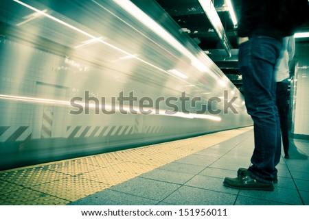 Times Square Subway Station, New York City - stock photo