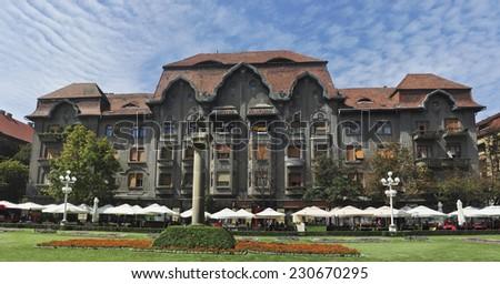 timisoara city romania revolution square landmark architecture - stock photo