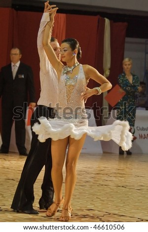 TIMISOARA, ROMANIA - OCTOBER 25: Couple at Romanian Ballroom Dance Championship, October 25, 2009, Timisoara, Romania
