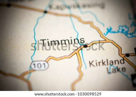 Timmins Canada On Map Stock Photo 772729342 Shutterstock