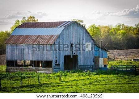 Tin Barn - stock photo