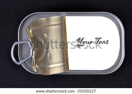 Tin can - stock photo