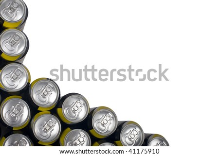 Tin Can background isolated against white - stock photo
