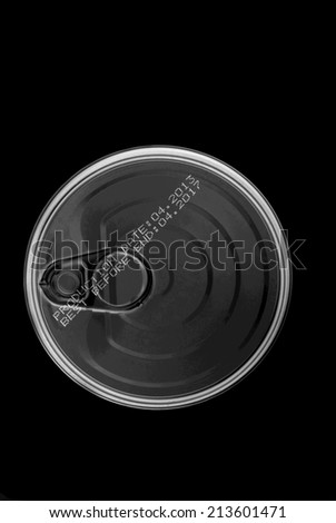 Tin can isolated - stock photo