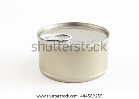Tin can isolated on white background - stock photo