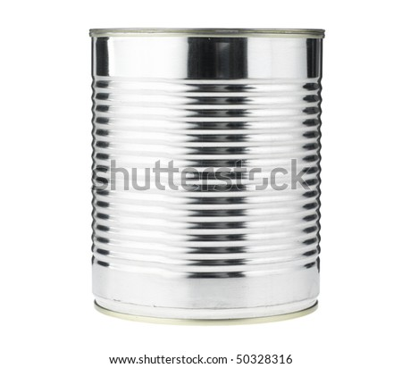 Tin Can,isolated with path - stock photo
