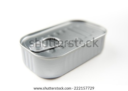 Tin Can of Sardines or Anchovies  - stock photo