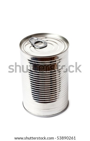 tin can on white background - stock photo