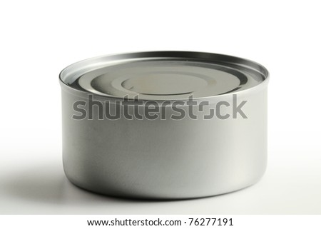 Tin can on white background - stock photo