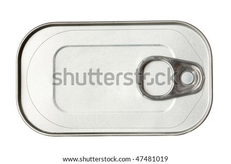Tin can on white background isolated - stock photo