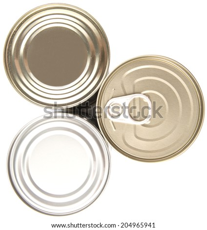 Tin can over white background - stock photo