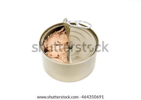 tin can tuna isolated