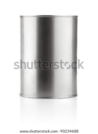 tin can with paint isolated on white background - stock photo