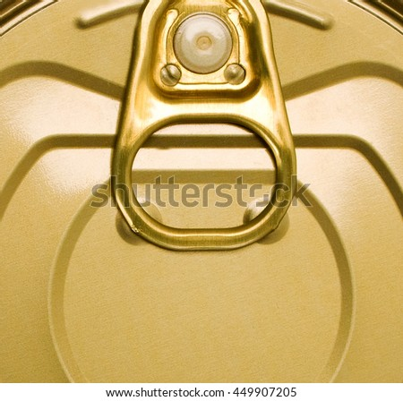 Tin can with ring pull background - stock photo