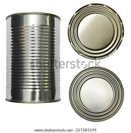 tin canned design element - stock photo
