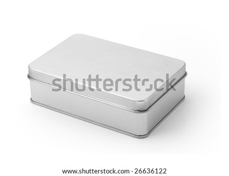 Tin container isolated on white