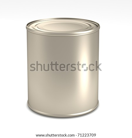 Tin for milk on isolated background