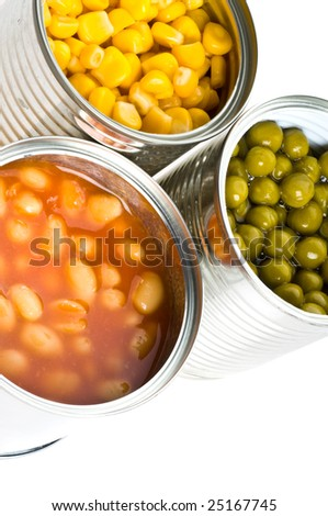 Tin. Isolation on the white. - stock photo