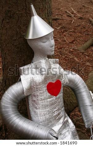 tin man for Halloween - stock photo