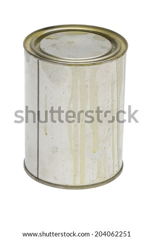 tin on the white background - stock photo