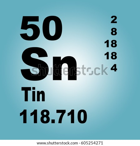 Tin periodic table elements stock illustration 605254271 shutterstock tin periodic table of elements urtaz Gallery
