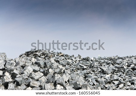 Tin recycling - stock photo