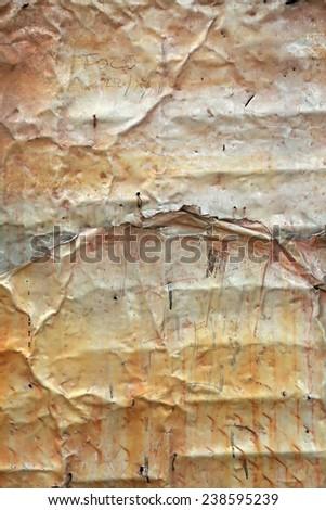 Tin wall detail in Havana, Cuba - stock photo