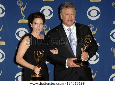 Tina Fey, Alec Baldwin in the press room for 61st Primetime Emmy Awards - PRESS ROOM, Nokia Theatre, Los Angeles, CA September 20, 2009 Photo By Dee Cercone/Everett Collection