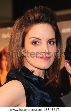 Tina Fey at DATE NIGHT Premiere, The Ziegfeld Theatre, New York, NY April 6, 2010 - stock photo