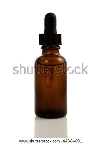 Tincture Bottle Isolated On A White Background