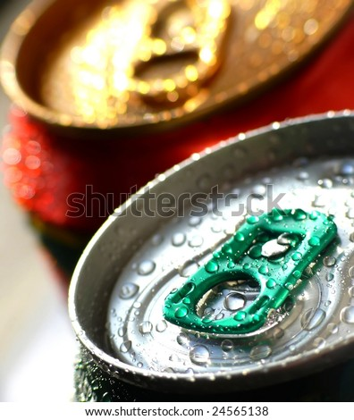 tins of drink - stock photo