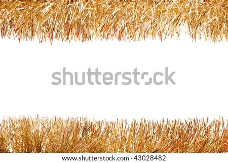 Tinsel garland - stock photo
